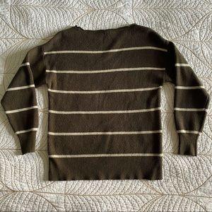Garage Sweaters - FREE W/ PURCHASE🍑 Garage Olive Striped Sweater